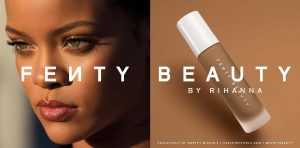 image of the fenty beauty campaign - digital print media