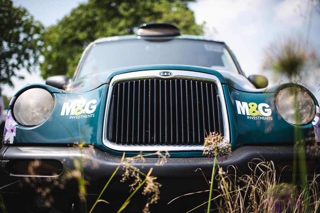 M&GInvestments_TaxiWrap_ChelseaFlowerShow_Front