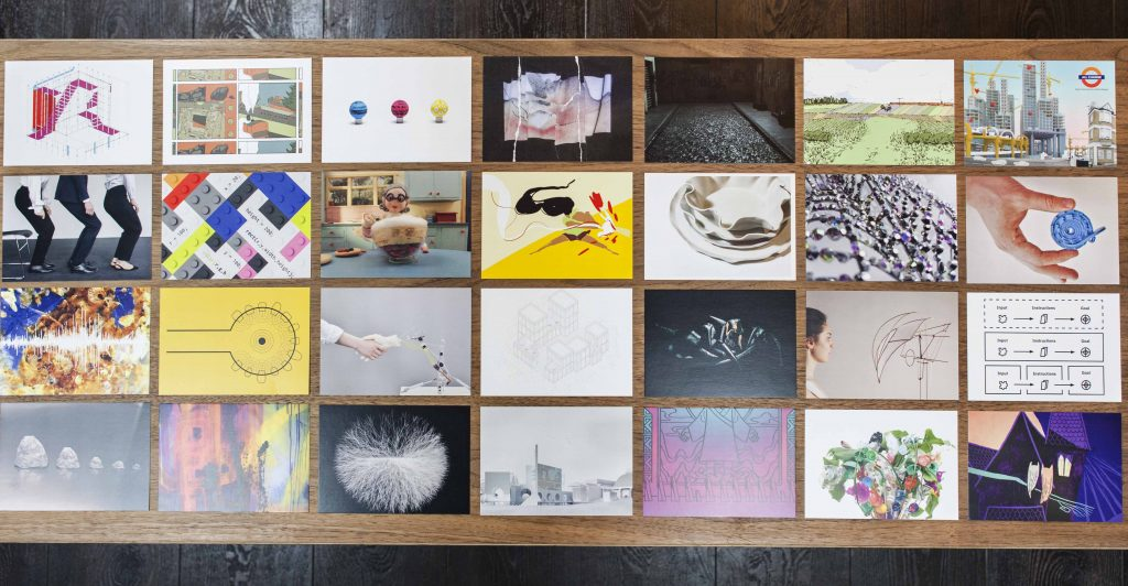 RCA_show2018_postcards on coffee table