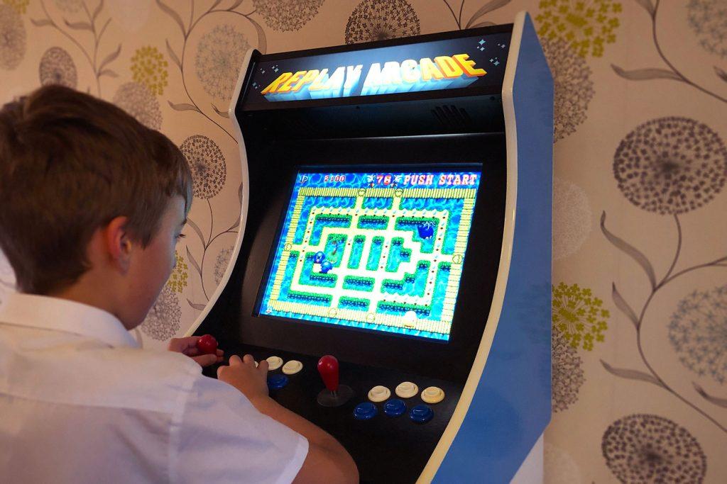 Julan Dye homemade arcade game in action