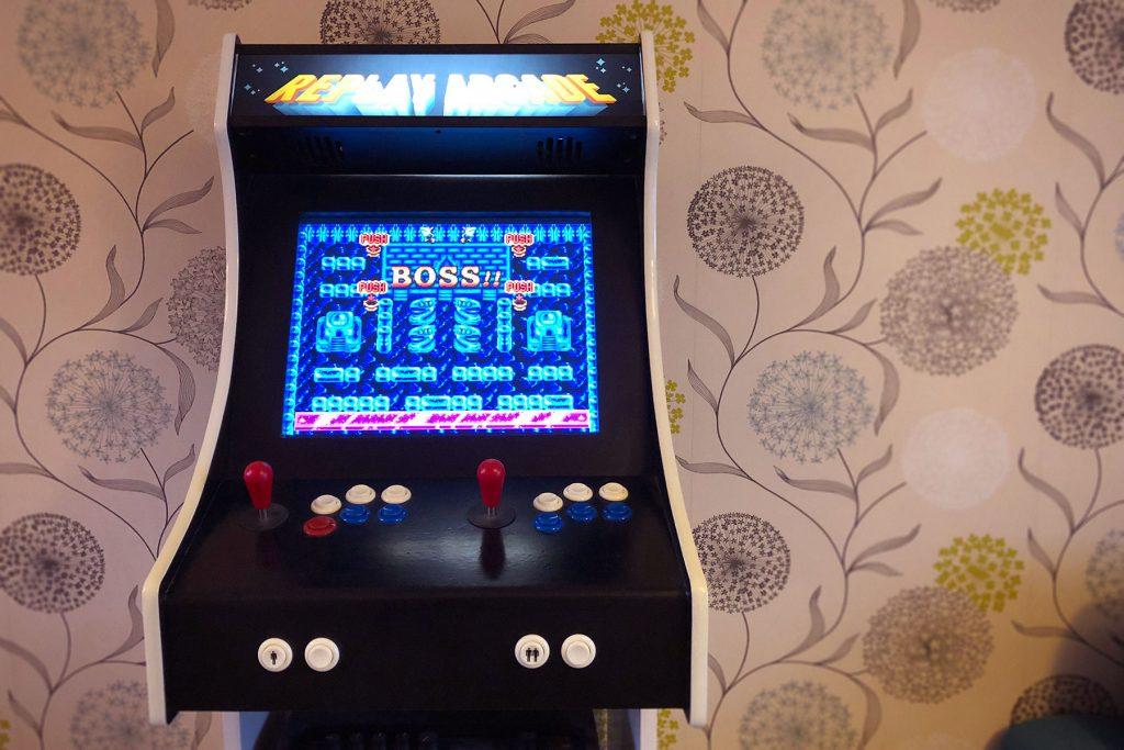 Julan Dye homemade arcade game