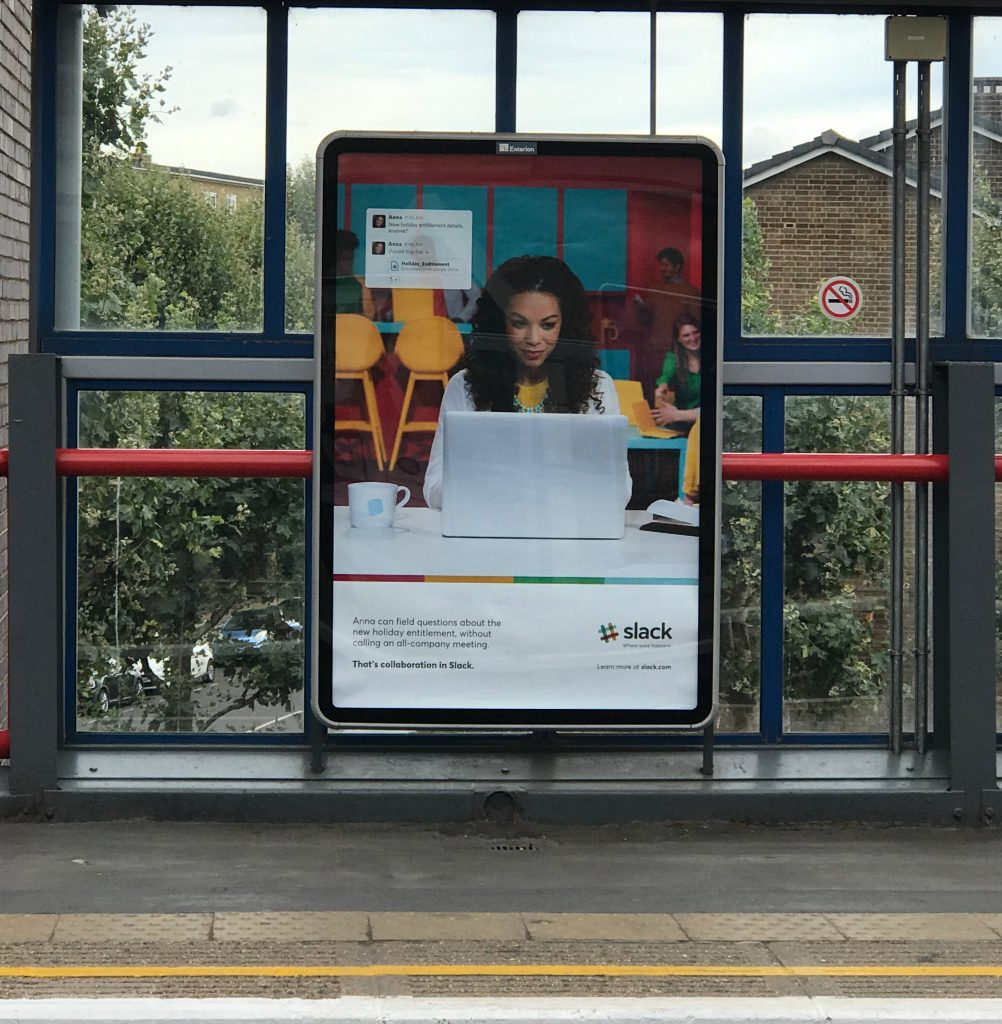 Slack outdoor advertising poster localised campaign platform