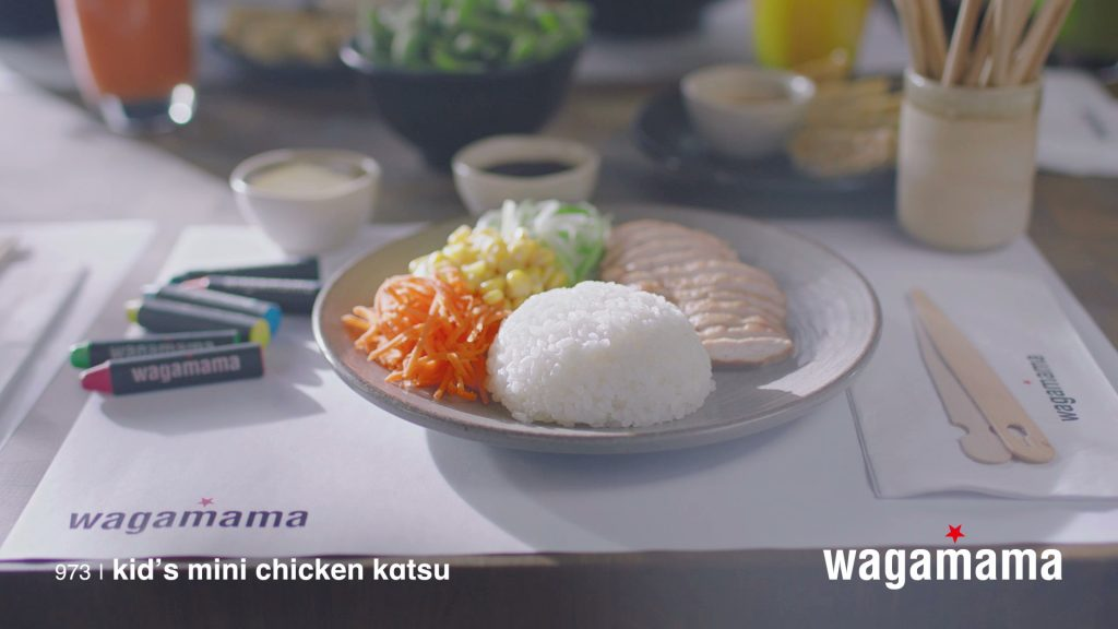 wagamama food films kids menu chicken