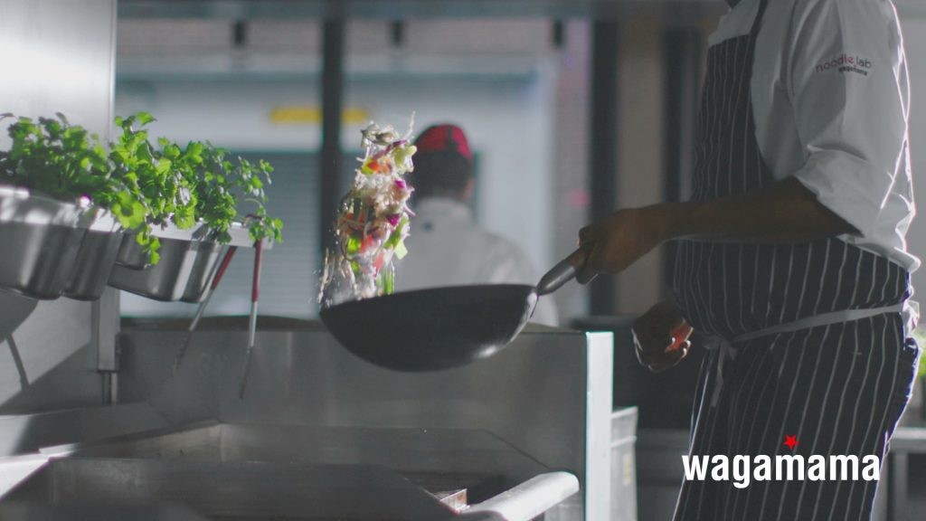 wagamama food films stir fry chefs