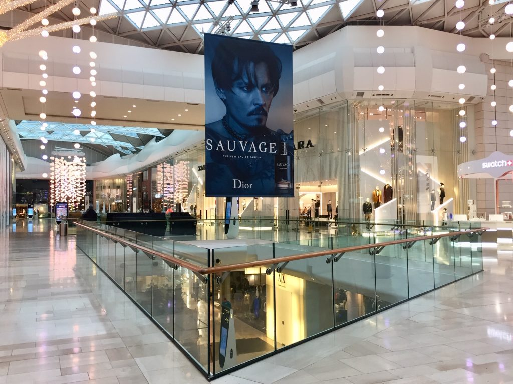 dior sauvage christmas ooh westfield mall