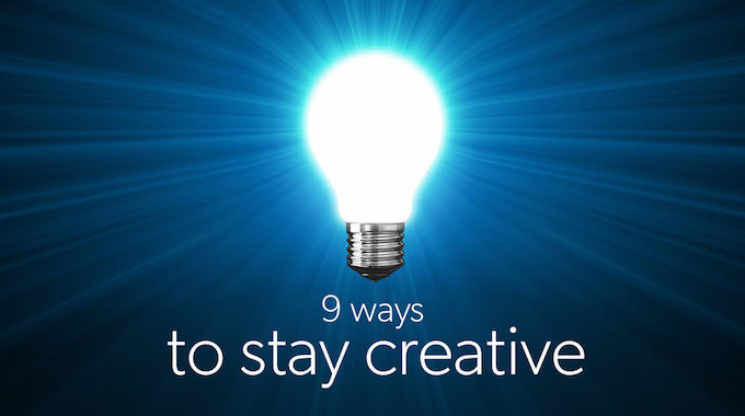 9 ways to stay creative - lightbulb graphic