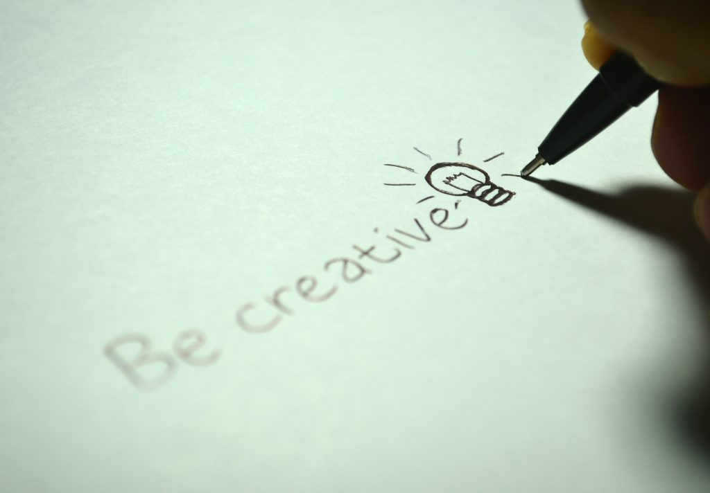 be creative lightbulb sketch