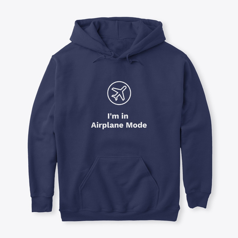 exaqueowear airplane mode slogan hoodie