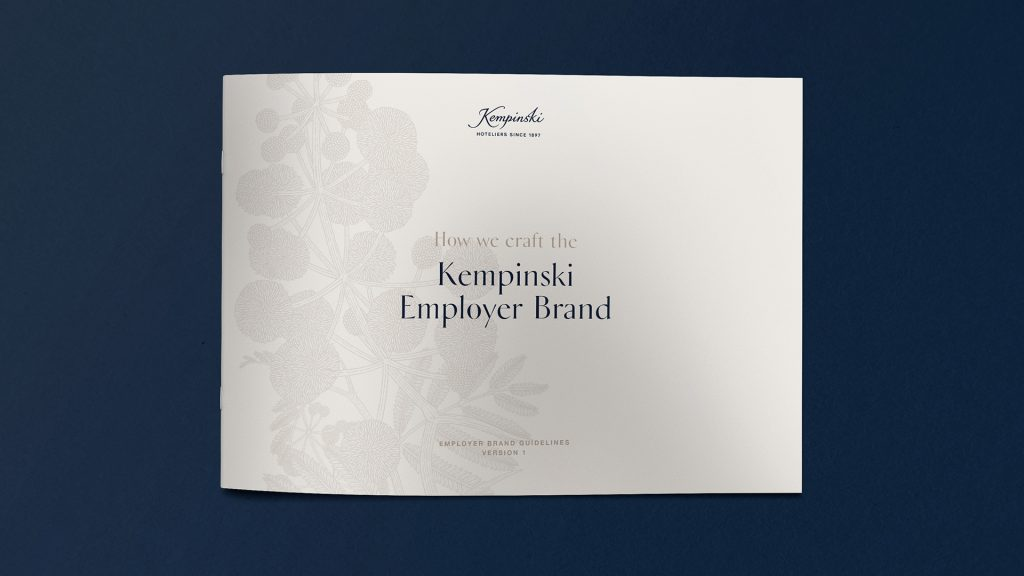 Kempinski employer brand guidelines