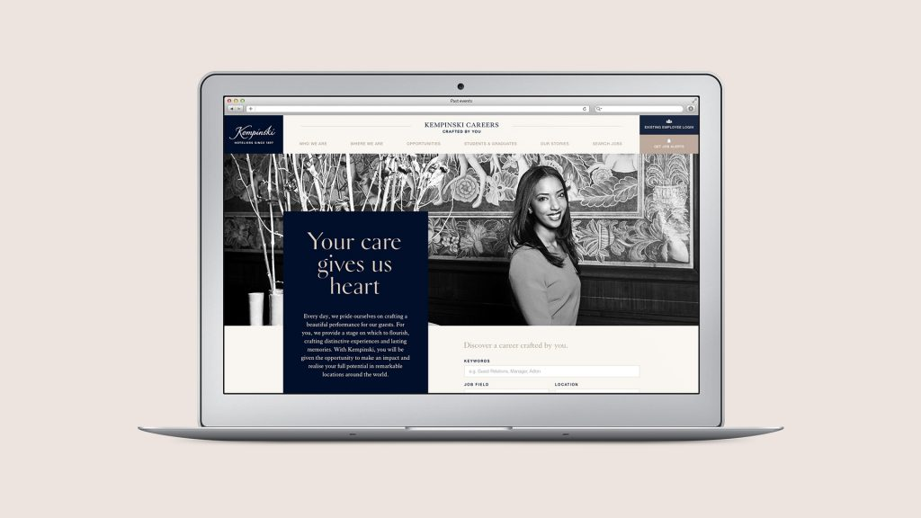 Kempinski employer brand Website design