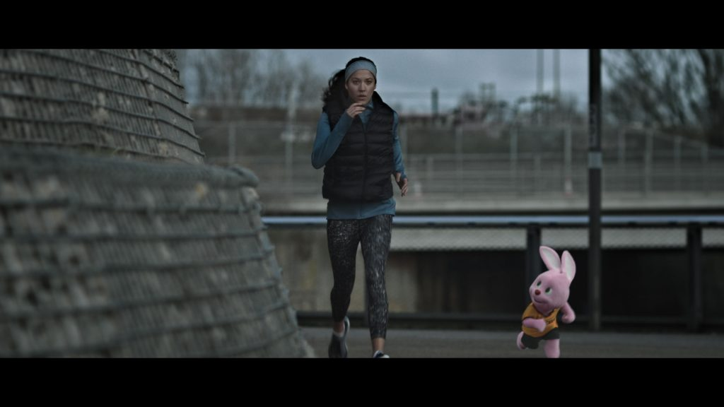 Duracell Disruptive sports commercial runner with Duracell Bunny