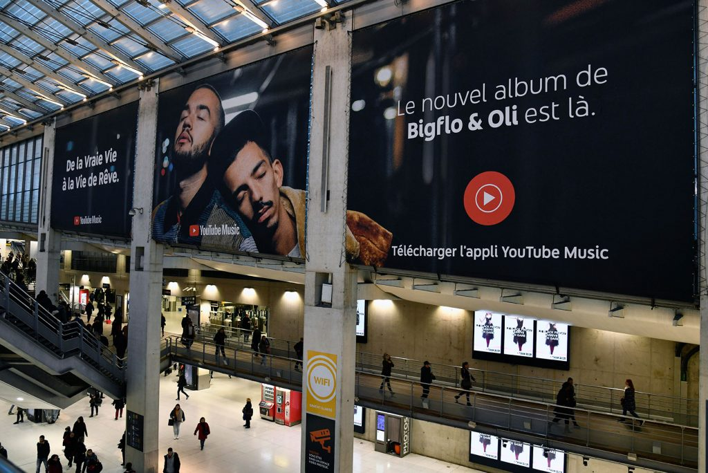 YouTube Music_BigFlo and Oli OOH tagline copywriting French- campaign image