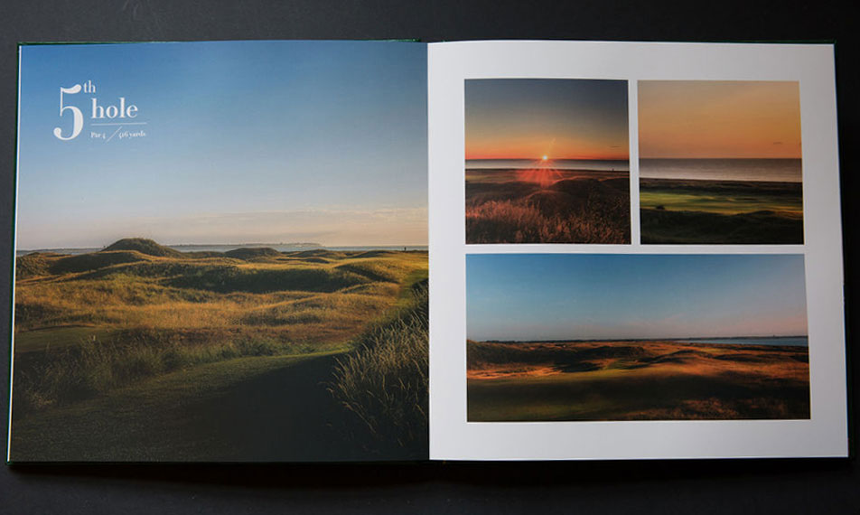 Royal St George's Golf Course Coffee Table Book design and printing - 5th hole