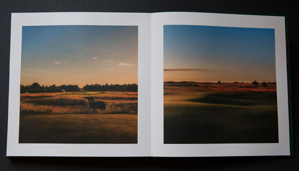 Royal St George's Golf Course Coffee Table Book design and printing - landscapes