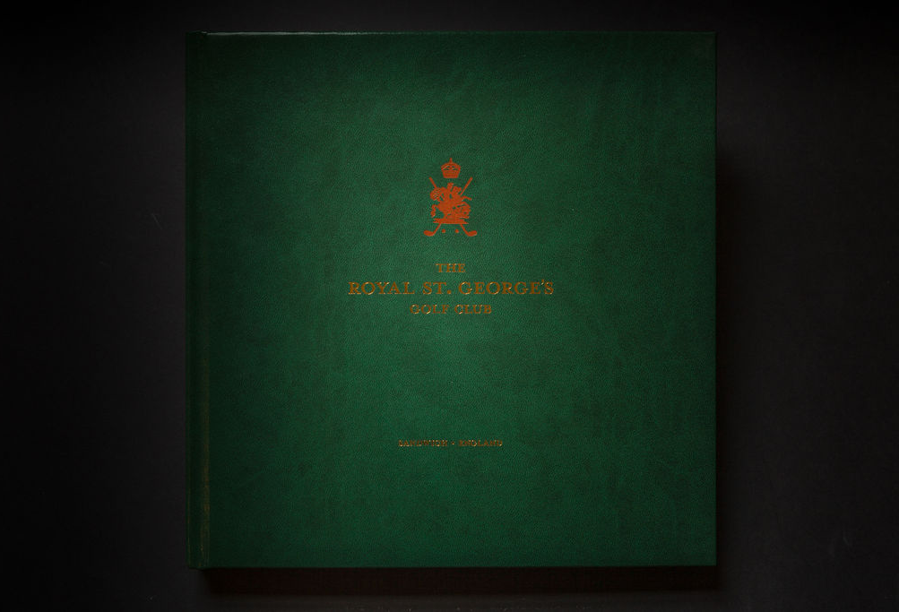 Royal St George's Golf Course Coffee Table Book design and printing - book cover