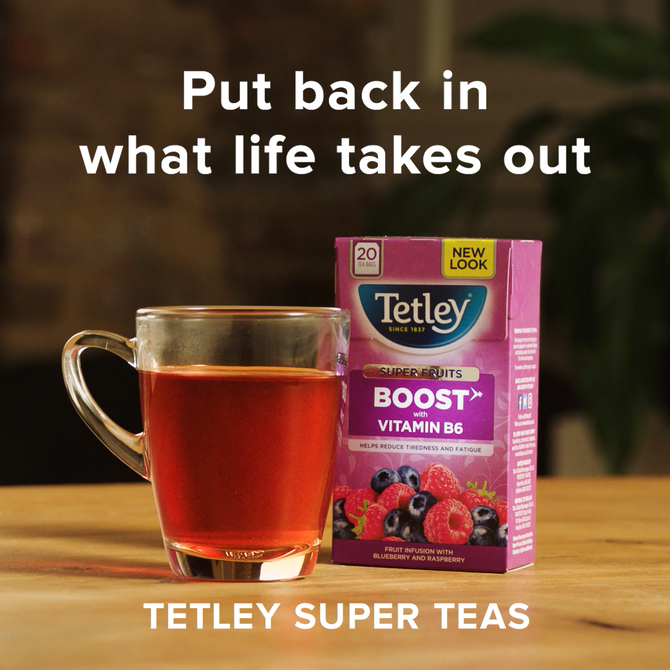 Tetley Super Teas advertising production pack shot photography
