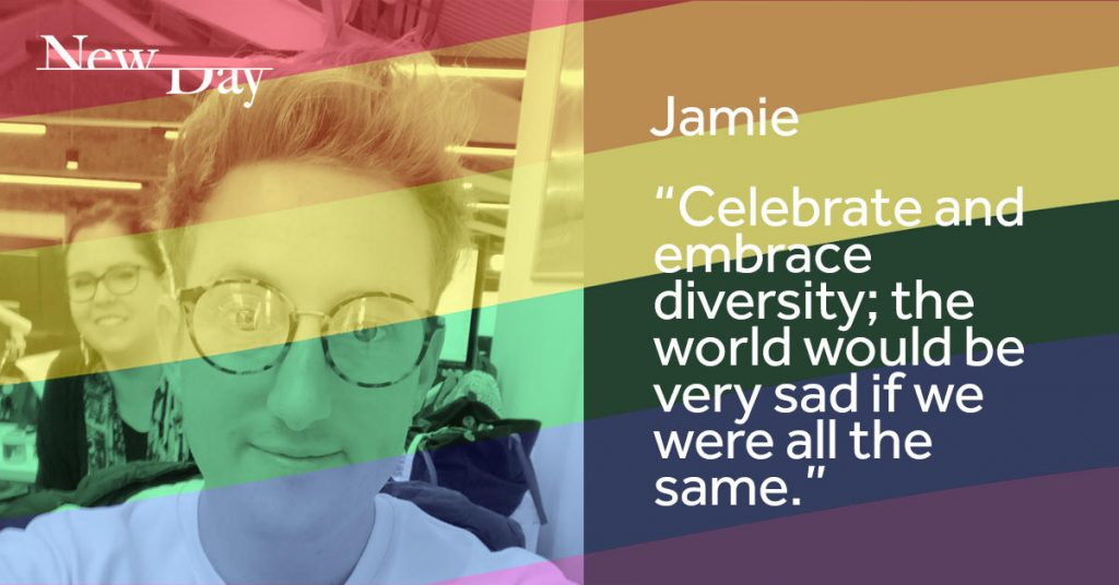 NewDay Pride digital and print campaign - Jamie - linkedin post