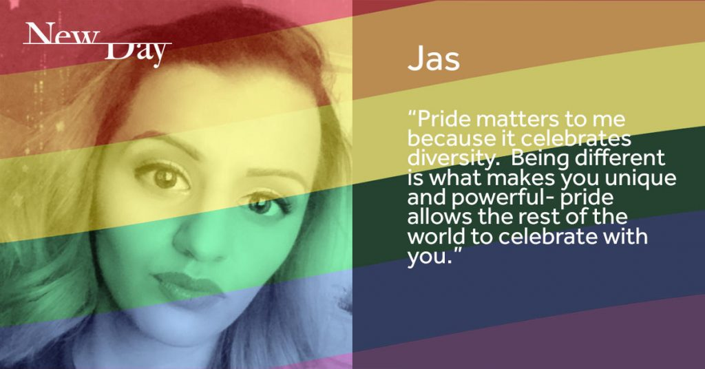 NewDay Pride digital and print campaign - Jas - linkedin post