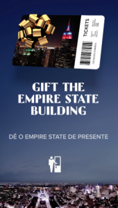Empire State Building Italian Translation gift ticket