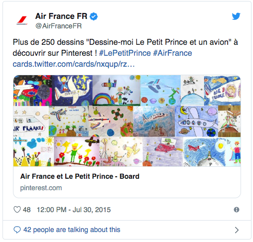 air france little prince social media engagement