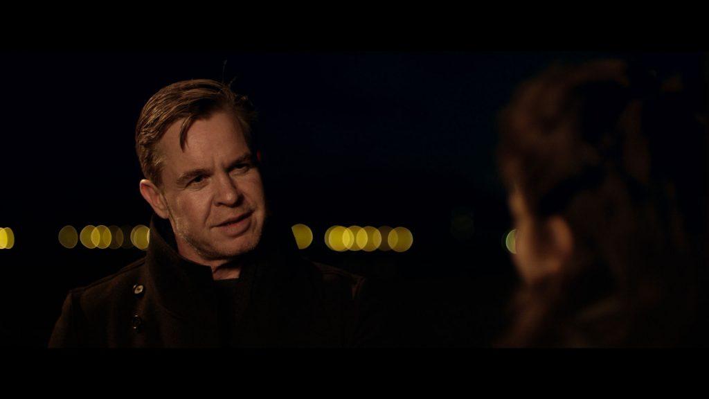 Night scene spy meeting The Dry Cleaner Short Film colour grade