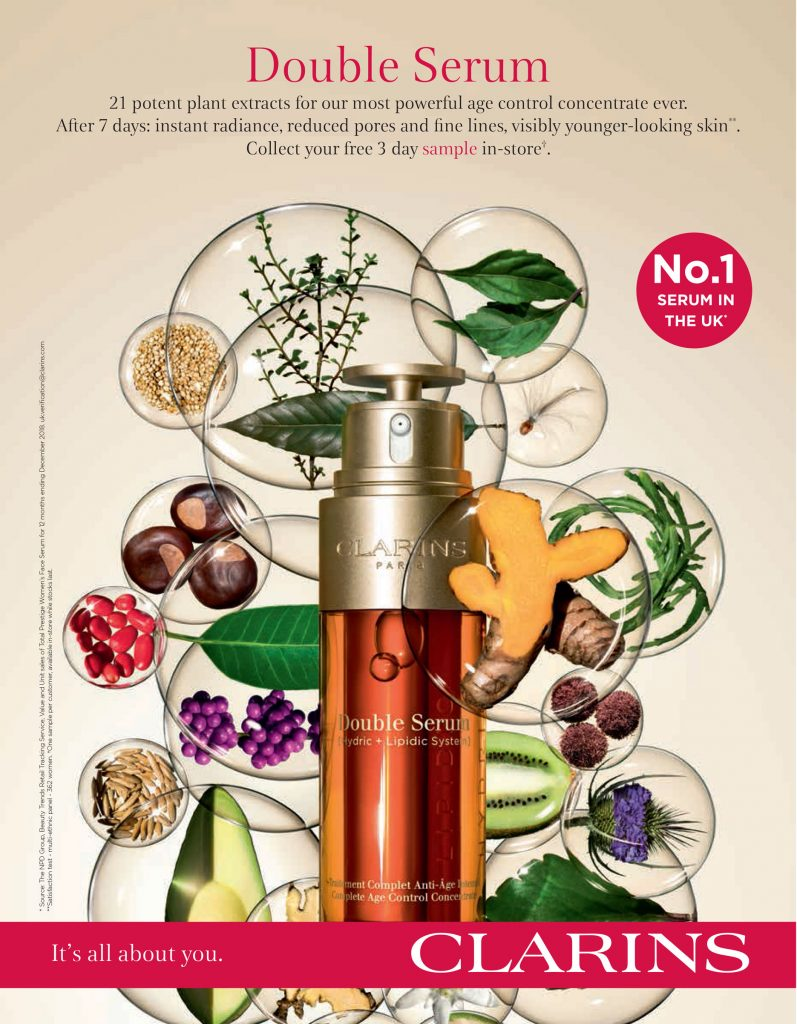 Clarins Double Serum Press Ad free sample offer