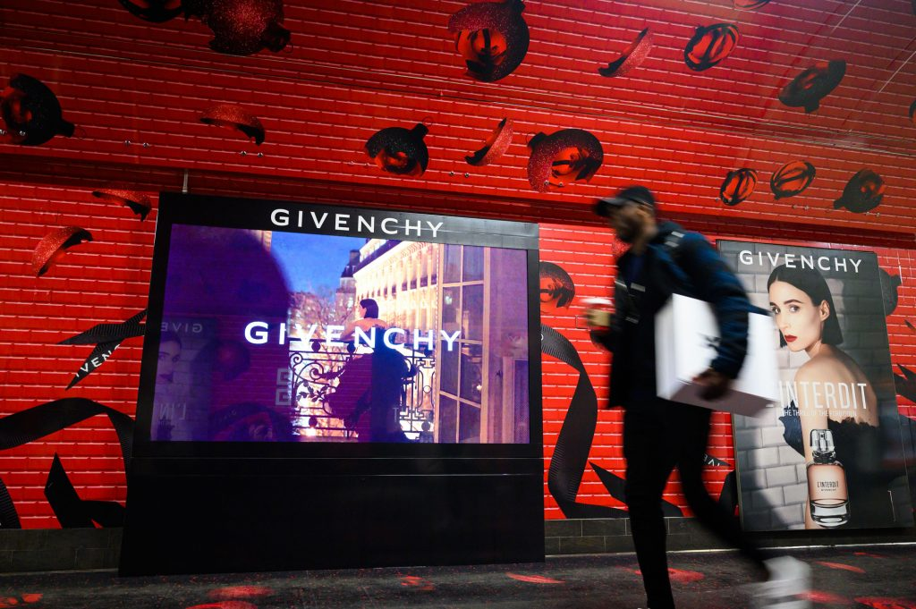 Givenchy L'Interdit Oxford Circus Station Domination Advertising