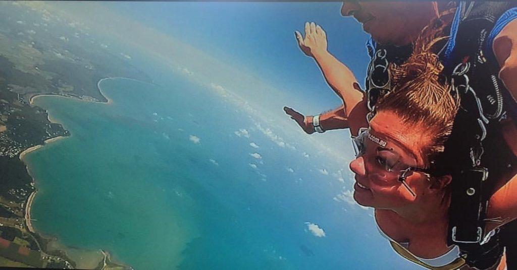 Lauren Potts Production Assistant Sky Diving