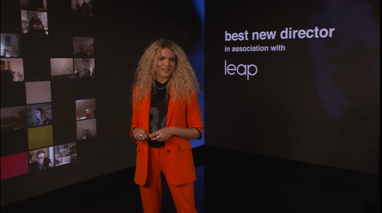 UKMVA 2020 LEAP sponsor best new director post-production partnership Live Virtual Awards Ceremony Hosted by Becca Dudley