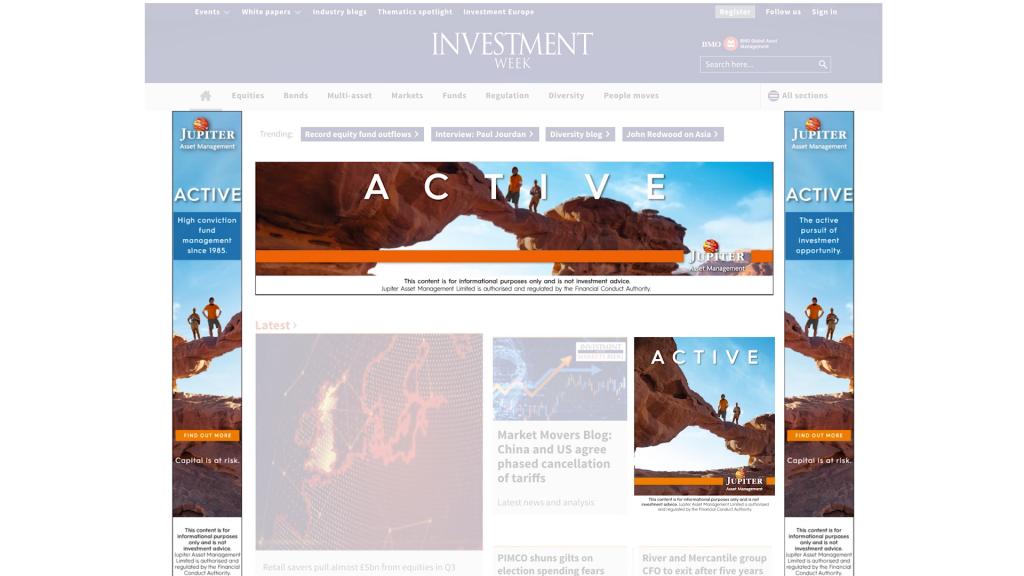 digital banner ads for Jupiter Investments