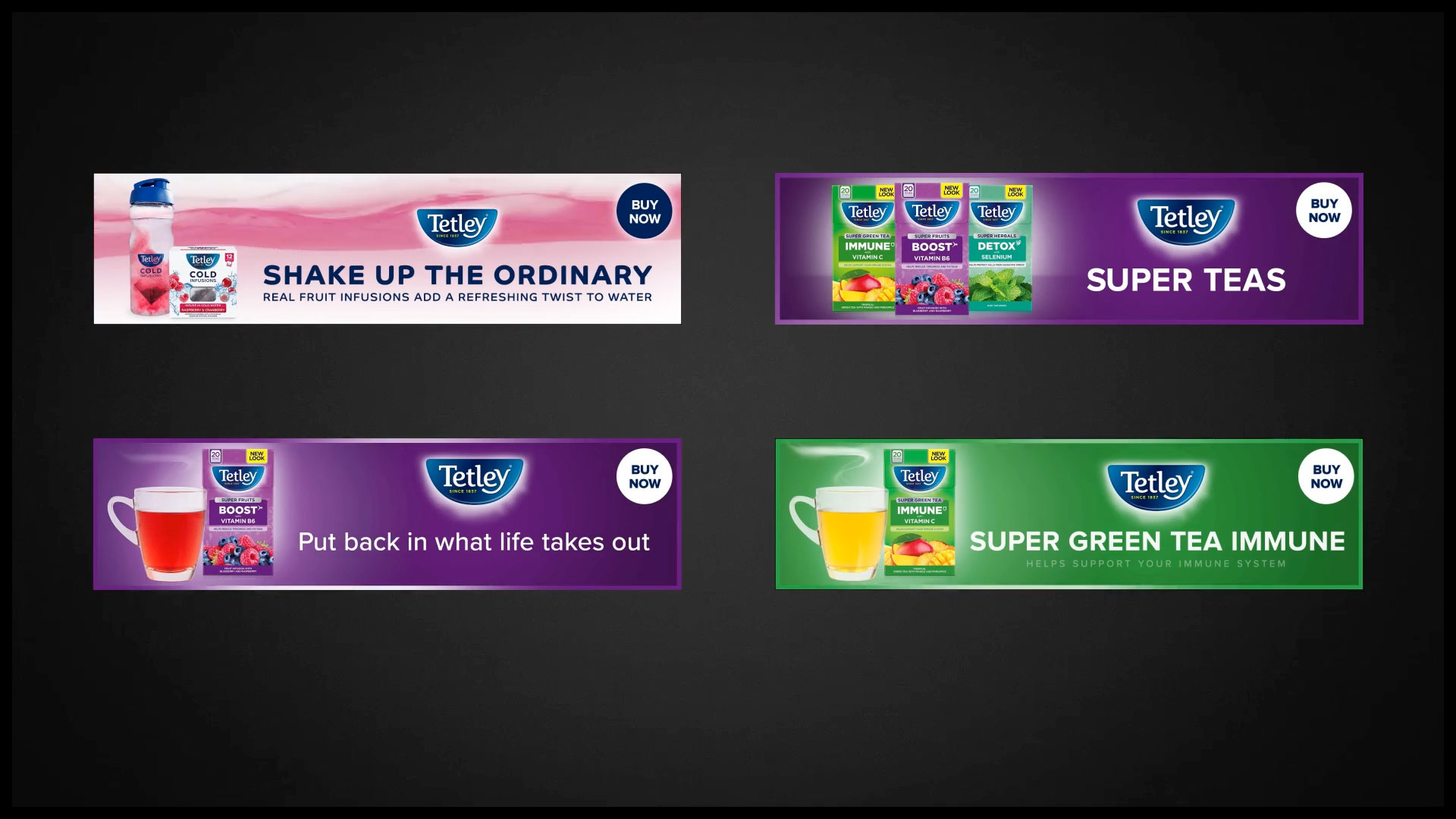 tetley tea digital banner ads