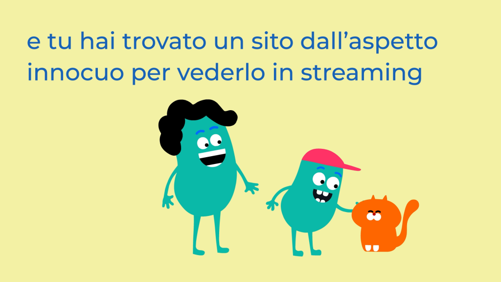 Internet Matters animation in Italian