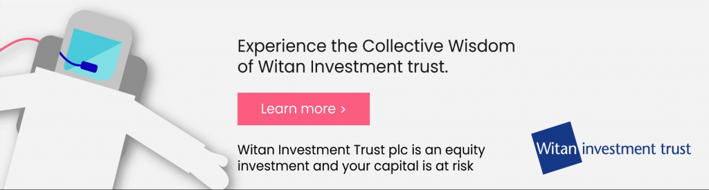 Astronaut and text for Witan Investment Trust brand awareness campaign