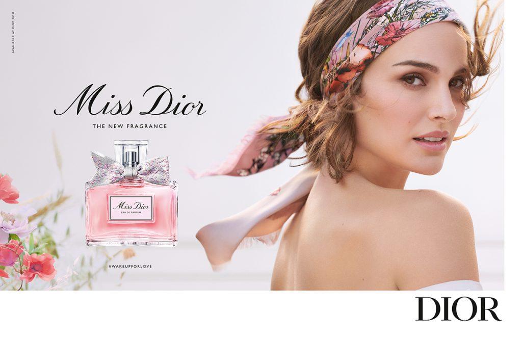 Miss Dior EDP 2021 press ad Natalie Portman